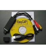 EASYCAP DC60 v2.1C USB 2.0 VIDEO CAPTURE, XP, Vista, Windows 7 - $18.99