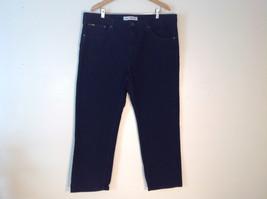 Mens Lee Regular Fit Black Jeans size 42 x 30 Wide Pant Leg Cotton