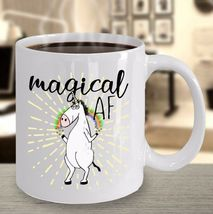 Magical AF Mug Unicorn Funny Rude Gift for Her Mom Coworker Coffee Cup Ceramic image 5