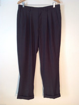 Men's 23rd Stree dark brown dress pants size 36x30 100% poly