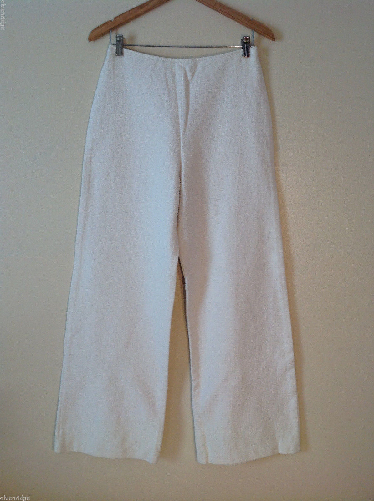 Womens Blair Delmonico cream colored thick tweed dressy pants Size 2