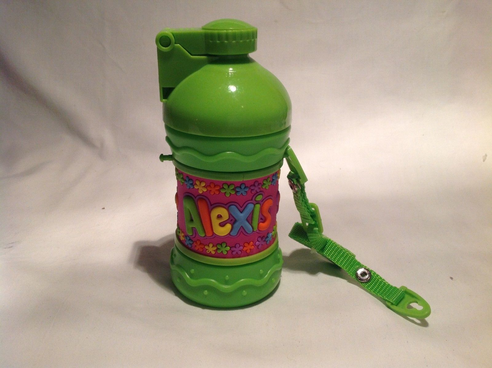 Personalized Child's Drink Cup NEW with press button opening and Carry Strap