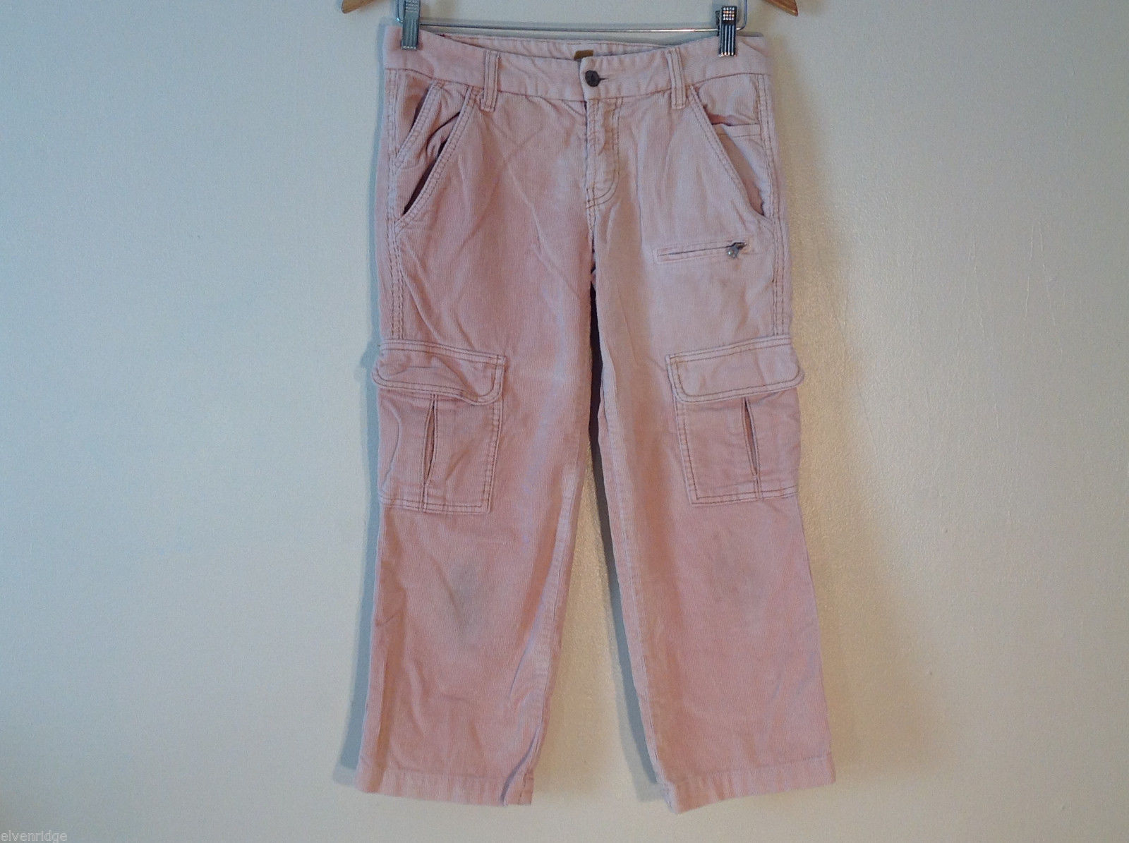 Womens For All Mankind Corduroy Pink Peach Pants Size 27 100% cotton