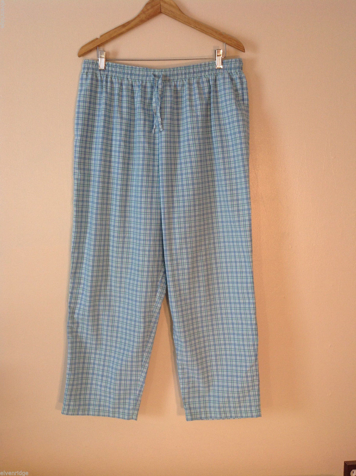Womens Alfred Dunner plaid pull on pants elastic waist size 20w