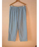 Womens Alfred Dunner plaid pull on pants elastic waist size 20w - $29.69