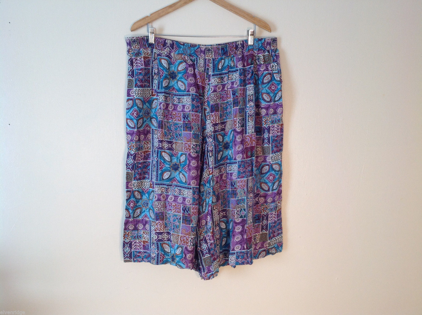 Womens Koret very colorful gaucho capri loose fitting size 20w