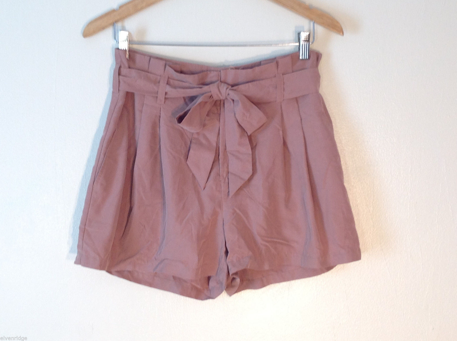 Womens Divided light pinkish brown silky shorts Size 10