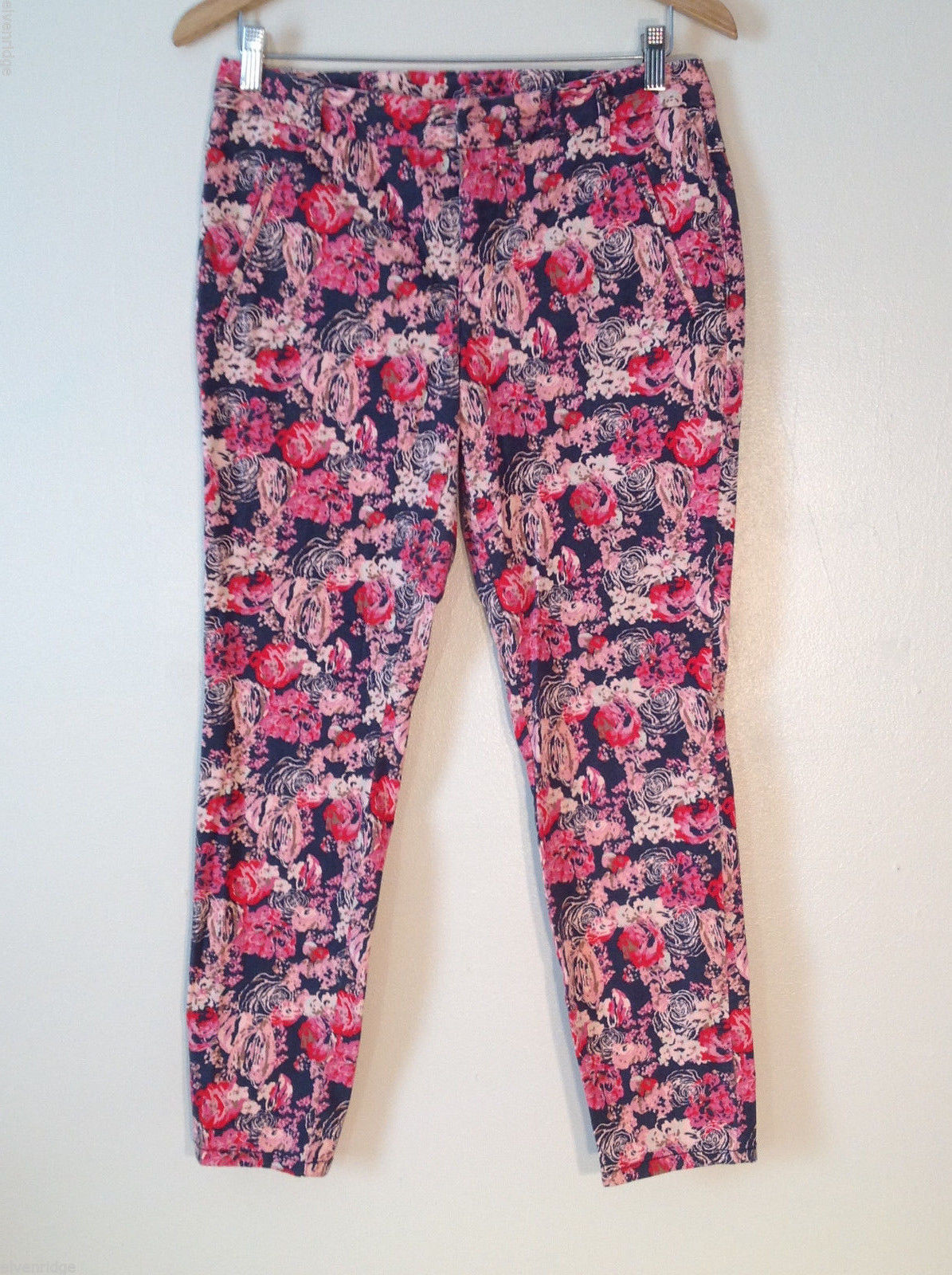 Womens Style+Co floral jeans size 6 cotton blend