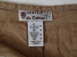 Womens Ventilo La Colline very lightweight light brown pants size 12 image 5