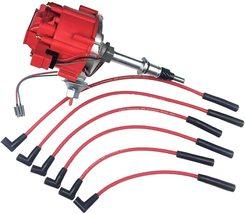 AMC JEEP INLINE 6 CYLINDER 232 258 HEI DISTRIBUTOR RED SPARK PLUG WIRES CJ5 CJ7