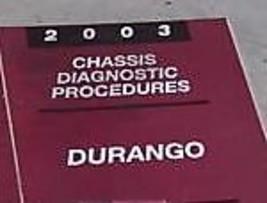 2003 DODGE DURANGO CHASSIS DIAGNOSTICS PROCEDURES Service Repair Shop Ma... - $33.61