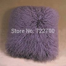 Two Sides Real Soft Tibetan fur Throw Pillow cushion cover Pillowcase Mo... - $63.99+