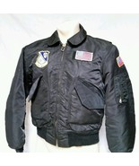 Avirex Flight Jacket Bomber VTG Army Flyers Blu... - $158.39