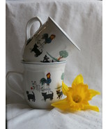 Oneida Farm Friends Coffee Cups or Mugs, Set of... - $14.99