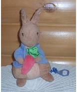 Beatrix Potter Frederick Warne Peter Rabbitw/ Carrot Plush Musical Lullaby Pull - $8.59