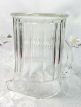 """Vintage Ribbed Glass Pitcher With Flat Bottom 6 1/3"""" x 7"""" x 4 3/4"""" image 5"""