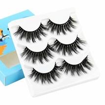 ALICE False Eyelashes 3D Faux Mink Volume Lashes 3 Pairs - $12.57