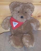 "OshKosh B'Gosh Plush 12"" Soft Eden Toy Teddy Bear Wears Special Red Bandana - $5.89"