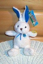 M & M's Candy Plush White Bunny with Flashing Light-Up Blue M & M Decora... - $4.89