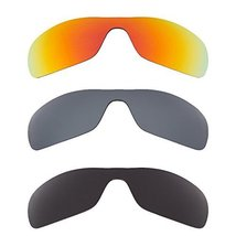 New SEEK Replacement Lenses Oakley ANTIX - Polarized Black Red Silver - $58.38