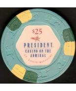$25 Casino Chip, President, St Louis, MO. K53. - $12.50