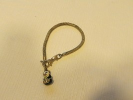 Brighton Beverly Glam mesh charm bracelet panda bear silver tone add bea... - $32.07