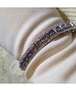Vintage 925 Sterling Silver Natural Genuine Blue Iolite Antique bracelet - $172.98