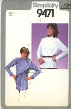 Belted Tunic, Asymetrical button Blouse Pattern Size 14 Simplicity 9471,... - $5.50