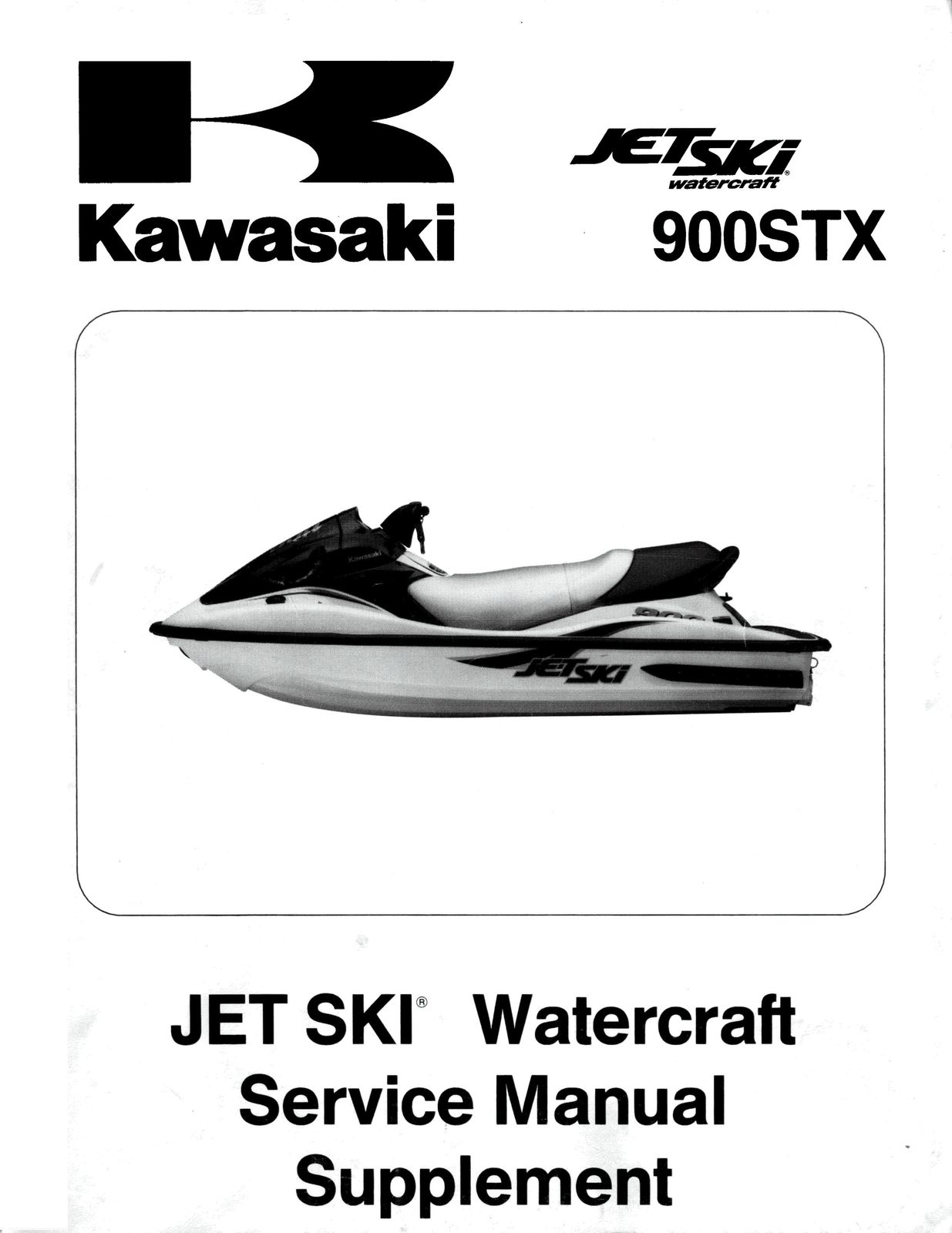 Pages from jetski 900stx 2001 supplement. Pages from jetski 900stx 2001  supplement. 2001 KAWASAKI JETSKI 900 STX 900STX SHOP SERVICE REPAIR MANUAL  ...