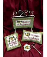 Quilter / Stitcher In Residence cross stitch chart Foxwood Crossings - $8.00