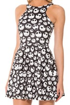 Jack Skellington Digital Printing Black and White Skeleton Reversible Sun Dress - $18.99
