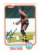 1981-82 TOPPS SIGNED ROOKIE CARD JARI KURRI OILERS KINGS RANGERS FINLAND... - $29.69