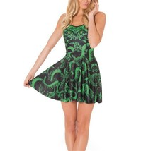 Fictional Cthulhu Design Slim Stretchy Pleated Skirt Reversible Dress - $18.99