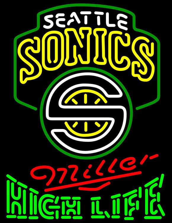 Miller High Life NBA Seattle Supersonics Neon Sign