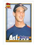 Luis Gonzalez baseball card 1991 Topps #48T (Houston Astros - Rookie Card) - $3.00