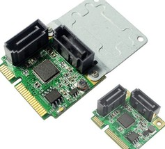 Mini PCI-e to 2 sata 3.0 6 Gbps adapter card SATA III mini PCIe adapter ... - $28.00