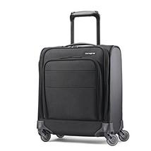Samsonite Flexis Underseat Carry On Luggage with Spinner Wheels, Jet Black - $147.09