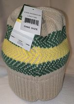 John Deere LP67786 Acrylic Knitted Tan Green And Yellow Beanie image 5