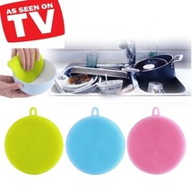 Silicone Cleaning Pad Magical Sponge Practical Washing Brush Antibacterial Tool - $4.29