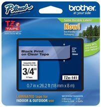 """Brother Genuine P-Touch TZE-141 Tape, 3/4"""" (0.7"""") Standard Laminated P-T... - $23.45"""