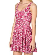 Cheshire Cat We're All Mad Cartoon Stretchy Reversible Disney Pink Dress - $18.99