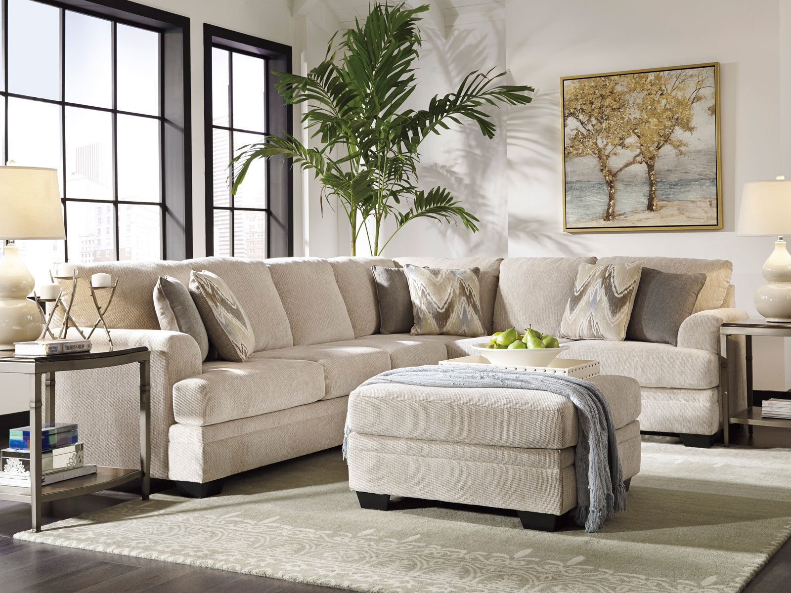 Balboa new large modern gray microfiber living room sofa for Large couch small living room