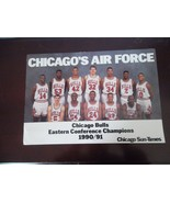 Chicago's AIR FORCE poster~Chicago Sun-times~BULLS 1990/91~16x11 - $29.65