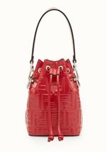 NWT Fendi Mon Tresor red Leather Shoulder mini bucket Bag; Rtl $1890 - $1,299.99