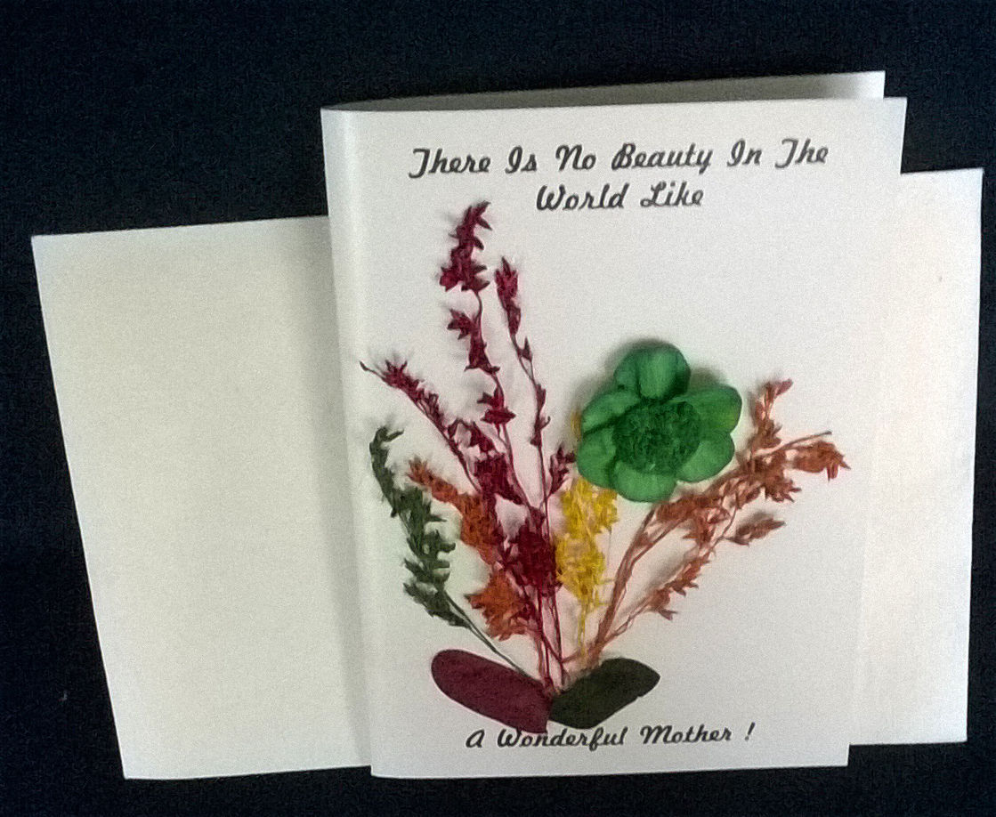 Unique and unusual Handmade Greeting Card - Mothers Card ...