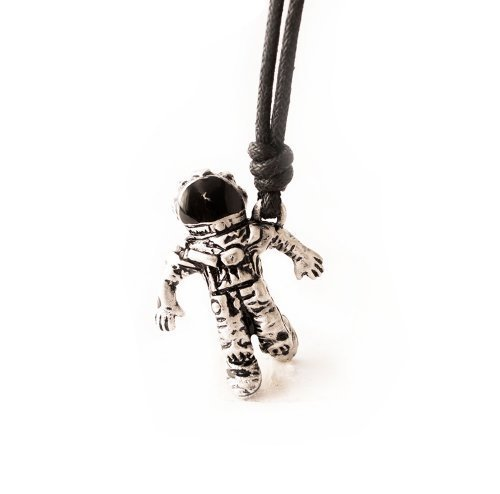 Astronaut Space Man Silver Pewter Charm Necklace Pendant Jewelry