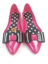 Kate spade  new york women size 8 pink black jelly ballerina flat New - $61.63