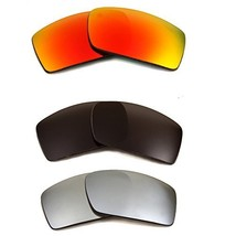 New SEEK Replacement Lenses Oakley GASCAN - Polarized Grey Red Black - $48.48