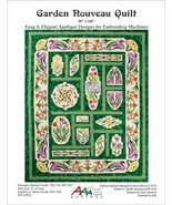 Garden Nouveau Quilt Machine Embroidery Pattern... - $86.99