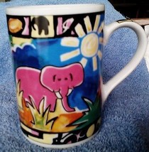 Beautifully Painted Jungle scene  Mug by Pier 1 Imports - $4.44